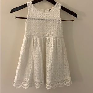 H&M white lace lined summer dress